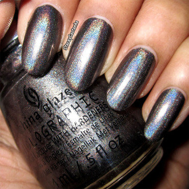 China Glaze Galactic Gray Swatch by Stacey  Castanha