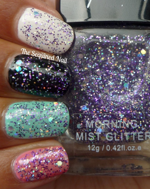 Graffiti Nails Morning Mist Swatch by TheSequinedNail