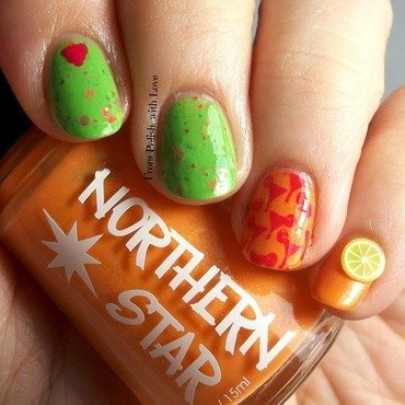 Where do you put the lime if there is no coconut? nail art by Dani