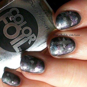 Colorfoil galaxy nail art thumb370f
