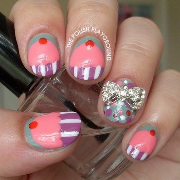 Pink Cupcake Nails nail art by Lisa N
