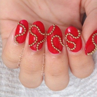 Chains nail art by Kasey Campa