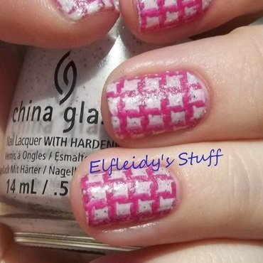 Stamped texture nail art by Jenette Maitland-Tomblin