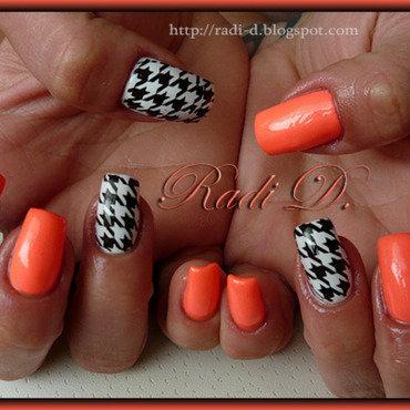 Pepit design nail art by Radi Dimitrova