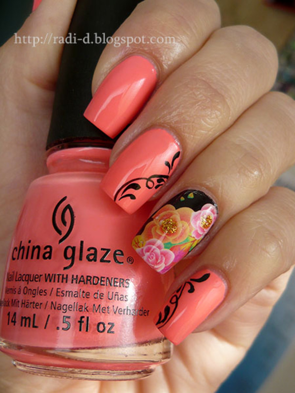 China Glaze Petal To The Metal Swatch by Radi Dimitrova
