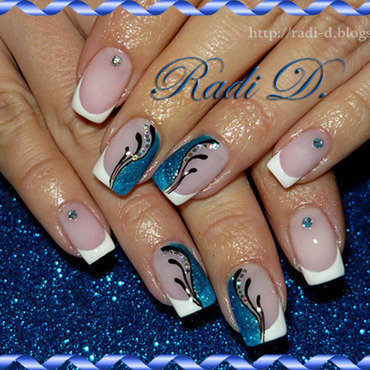 French nail art by Radi Dimitrova