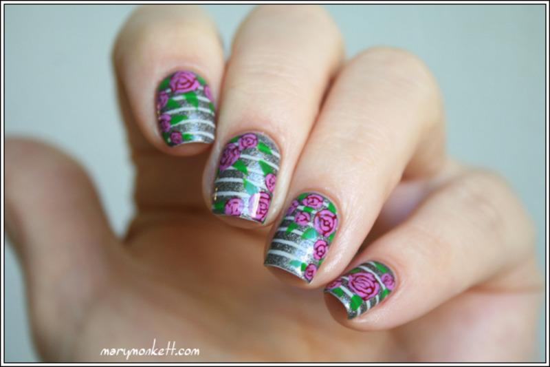 Rosier Grimpant nail art by Mary Monkett