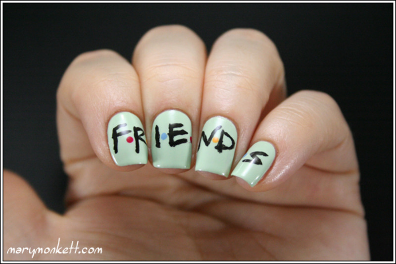 Friends for ever nail art by Mary Monkett