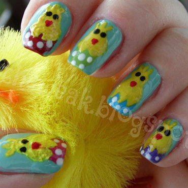 Easter nails nail art by Kasia