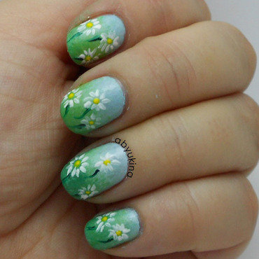 Spring nail art by Aby