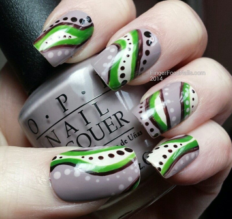 An Earth Day Abstract nail art by Sam