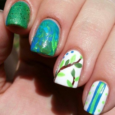 Happy Earth Day! ♡ nail art by Jennifer Collins