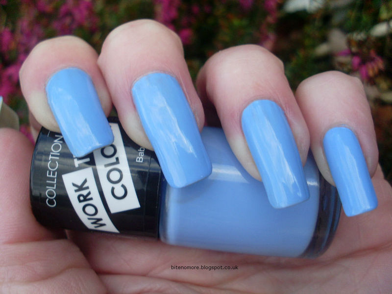 Collection Baby Blue Swatch by Tracey - Bite no more