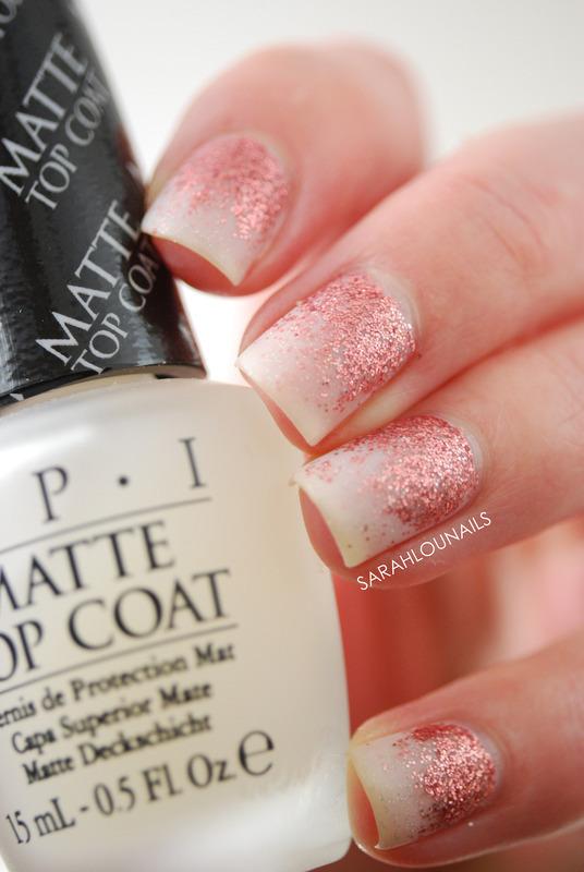Matte Glitter Nails nail art by Sarah S