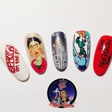 My SFMOMA nail art by G's Nails N' Creations