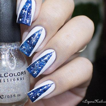 Twin Eternail – Galaxy Nails [Nail Art] nail art by Lizana Nails