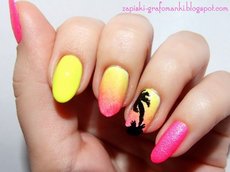 Summer Neon Time nail art by Paulina Domoradzka