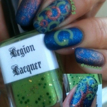 Earth Day Mani nail art by Genevieve  Clay-Poor