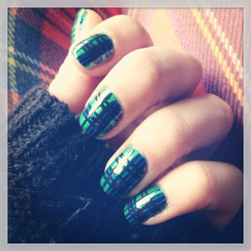 tartan lover nail art by Bec Symonds