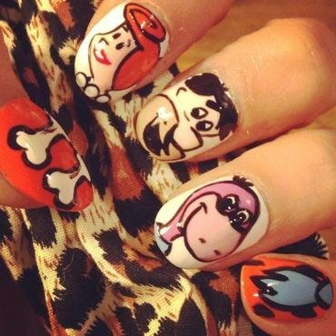 Hello, I'm Fred & I can make your nails rock ;) nail art by Bec Symonds