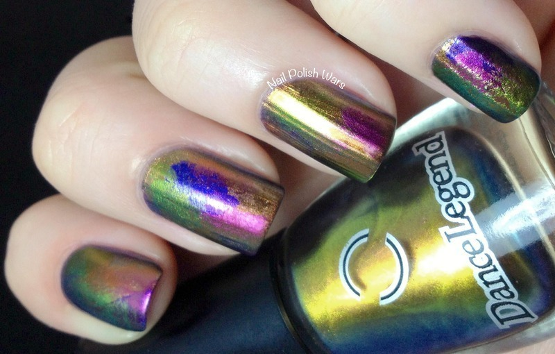 Oil Slick nail art by Nail Polish Wars