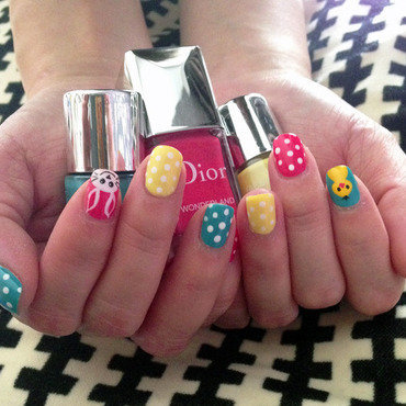 Easter manicure nail art by Linda M