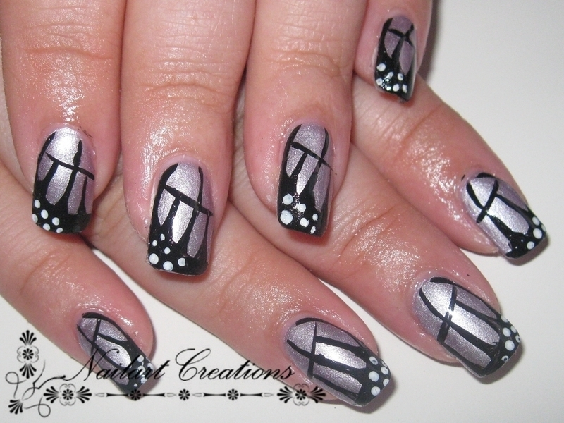 Butterfly Wings nail art by Nailart Creations