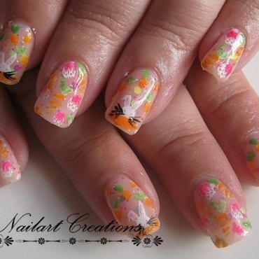 Easter Eggs and Bunny's! nail art by Nailart Creations