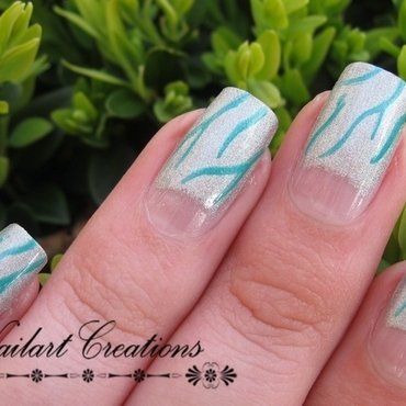 Holographic Moons nail art by Nailart Creations