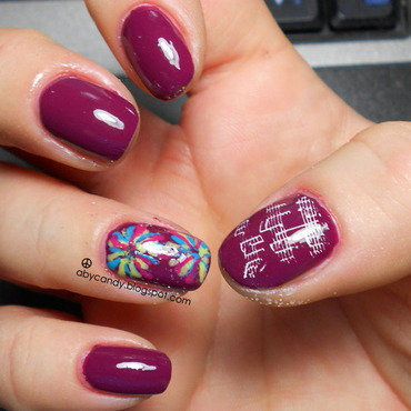 Firework  nail art by Aby