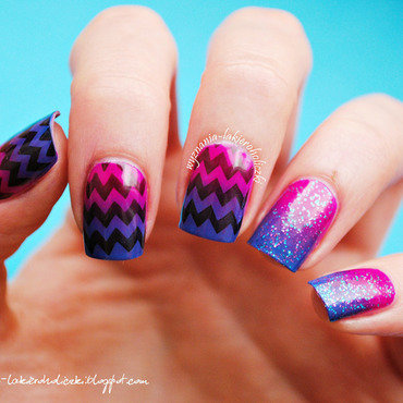 Chevron blue violet nails thumb370f
