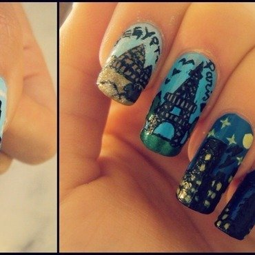 Travel around the world in 24h nail art by Pedrinails