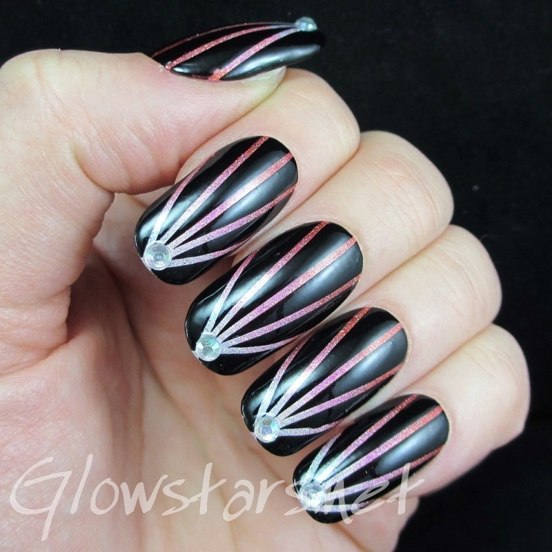 You're the upside to my downfall nail art by Vic 'Glowstars' Pires