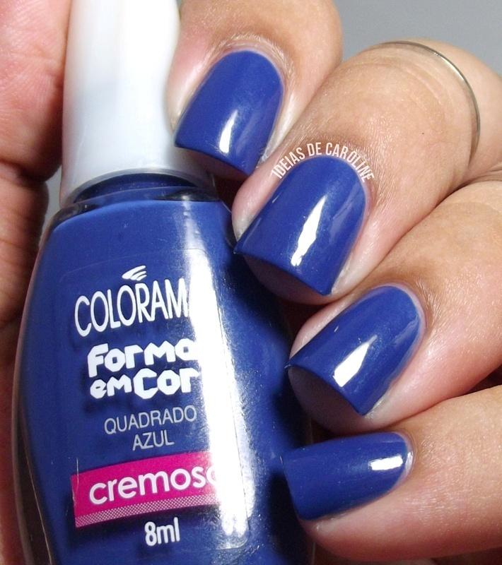Colorama Quadrado Azul Swatch by Caroline Lopes