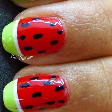 Water Melon Nails nail art by Madhu DenDiva