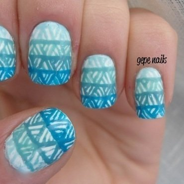GEOMETRIC NAILS nail art by GepeNails
