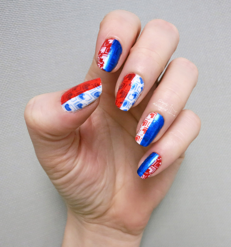 Mad Men inspired 1960's retro pattern nail art by simplynailogical