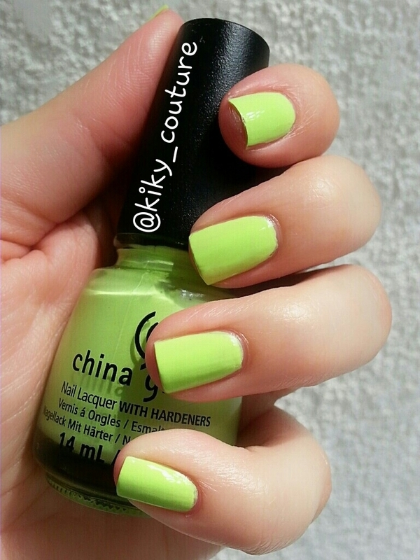 China Glaze grass is lime greener Swatch by Ximena Echenique