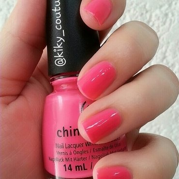 China Glaze Peonies & Park Ave Swatch by Ximena Echenique