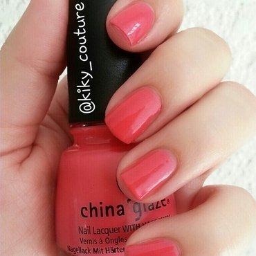 China Glaze Strike A Rose Swatch by Ximena Echenique