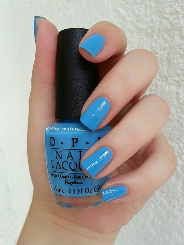 OPI No Room For The Blues Swatch by Ximena Echenique