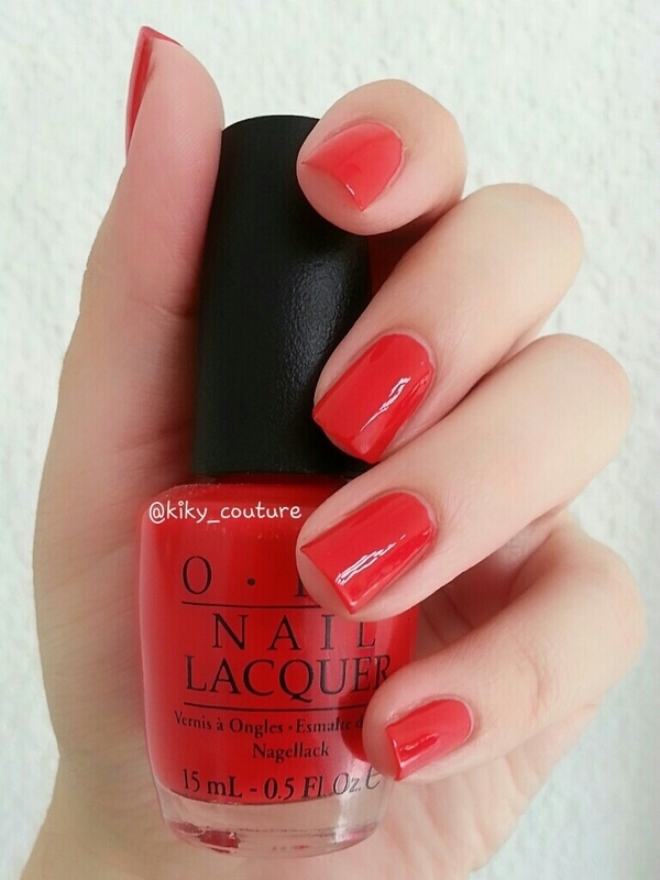 OPI Red My Fortune Cookie Swatch by Ximena Echenique