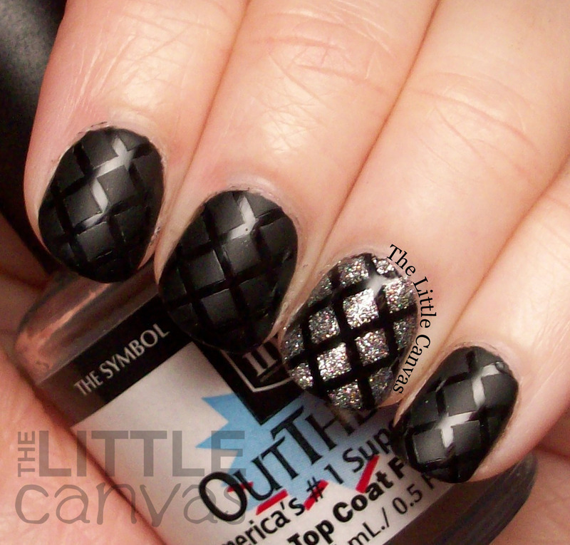 Matte Glossy Quilt Nails Inspired By Polishaholic nail art by The Little Canvas