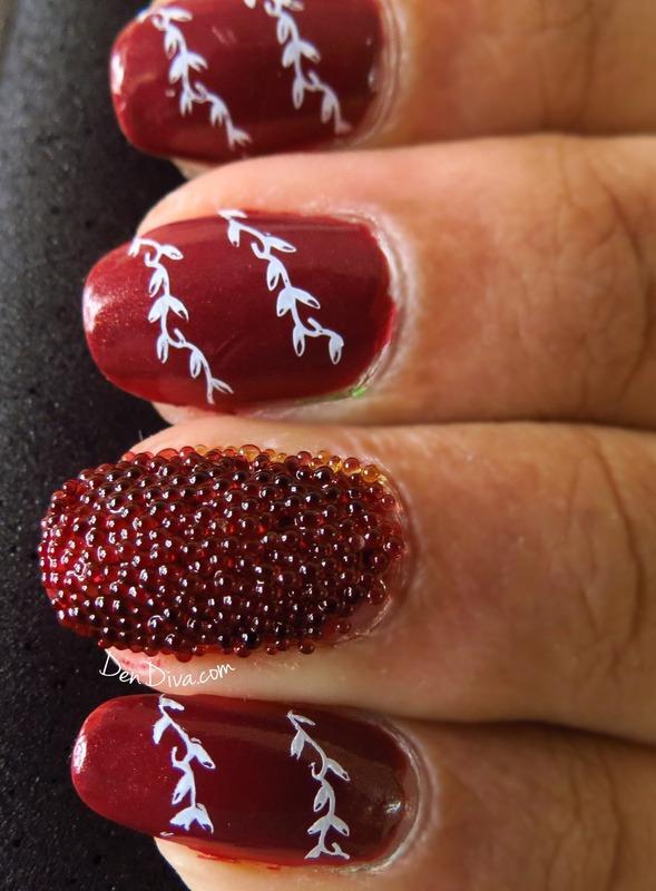 Caviar Nails nail art by Madhu DenDiva