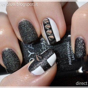 Metalhead Nail Art nail art by MiseryLovesBlue