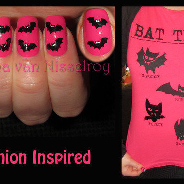 Fashion inspired by my own shirt nail art by Diana van Nisselroy