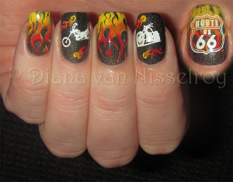 Biker Nail Art And Swatches Nailpolis Museum Of Nail Art