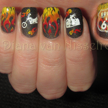 Born to be wild nail art by Diana van Nisselroy