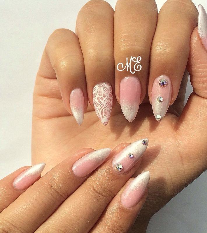 Bridal!  nail art by Miriam