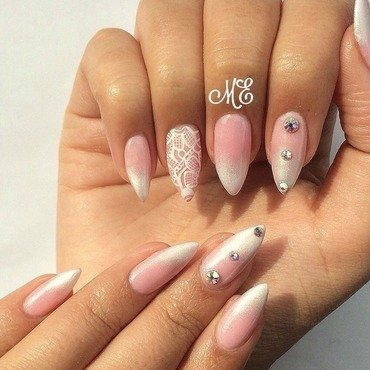 Bridal!  nail art by Miriam